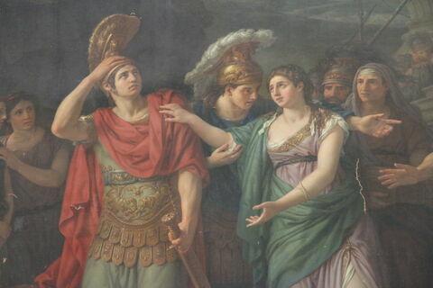 face, recto, avers, avant ; déroulé ; détail © 2012 Musée du Louvre