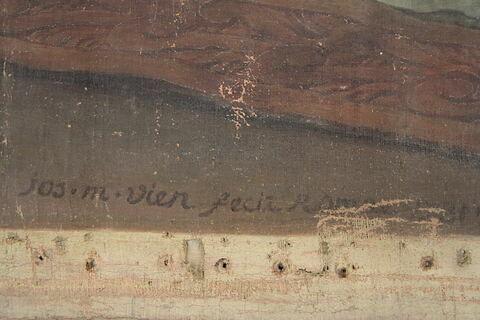 face, recto, avers, avant ; déroulé ; détail signature © 2012 Musée du Louvre