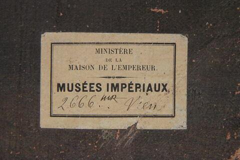 déroulé ; dos, verso, revers, arrière ; détail étiquette © 2012 Musée du Louvre