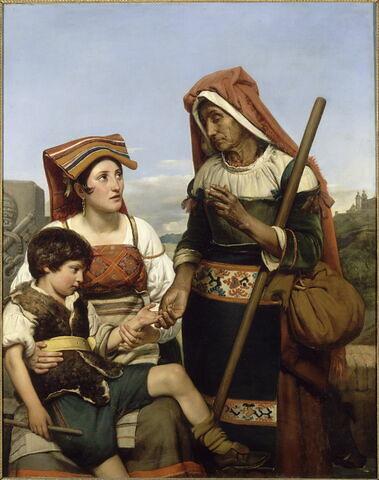 Diseuse de bonne aventure ; elle prédit l'avenir au jeune berger Montalte, qui fut depuis Sixte-Quint, dit aussi l'Enfance de Sixte-Quint