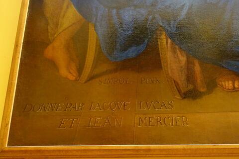 face, recto, avers, avant ; détail inscription ; détail signature © 2020 Musée du Louvre / Peintures