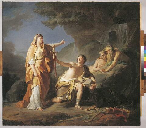 Le JeuneThésée retrouve les armes d'Egée, son père