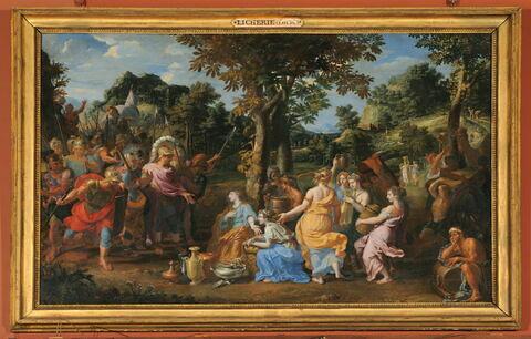 Abigail, femme de Nabal, cherchant à fléchir, par des présents, David irrité contre son mari qui lui avait refusé son secours