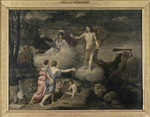 Apollon favorisant les Arts de la Peinture et de la Sculpture