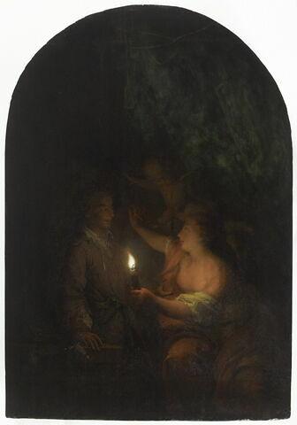 Dibutade dessinant, à la lueur d'une lampe, le portrait de son amant