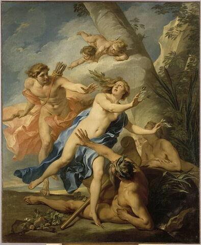 Apollon poursuivant Daphné