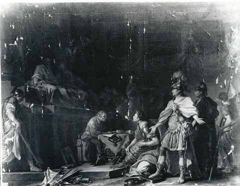 Magon, frère d'Annibal, répand au milieu du Sénat de Carthage les anneaux des chevaliers romains qui avaient péri à la bataille de Cannes
