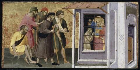 Saint Laurent en prison baptise son geôlier Hippolyte et guérit les aveugles et les infirmes.