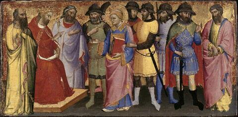 Le nouvel empereur Dèce interroge saint Laurent sur les trésors de Philippe et lui donne trois jours pour les trouver.