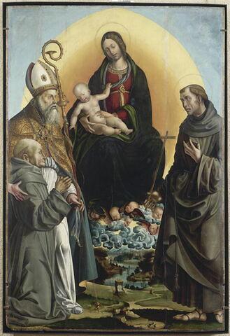 La Vierge en gloire entre saint François et saint Ambroise