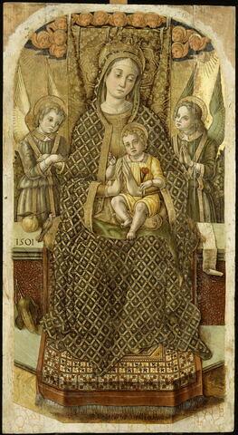 La Vierge et l'Enfant trônant entre deux anges