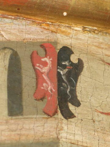 face, recto, avers, avant ; détail armoiries © 2009 Musée du Louvre / Peintures