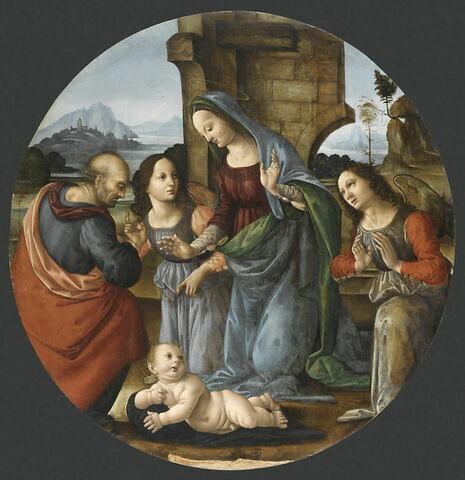 La Sainte Famille adorant l'Enfant