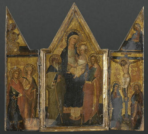 Triptyque (au centre La Vierge et l'Enfant entre saint Antoine et saint Jacques)