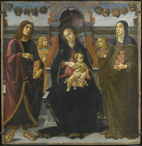 La Vierge et l'Enfant entre saint Jean Évangéliste, sainte Brigitte de Suède et deux anges