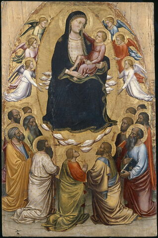 La Vierge en gloire avec les apôtres