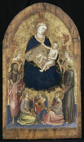 La Vierge et l'Enfant avec quatre saints et trois anges musiciens