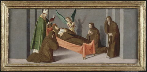 Trois scènes de la vie de saint Jean Gualbert : Mort de saint Jean Gualbert