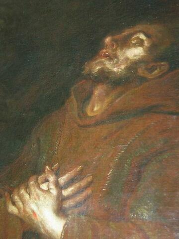 face, recto, avers, avant ; détail © 2004 Musée du Louvre / Peintures