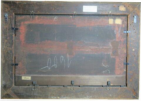 dos, verso, revers, arrière ; vue avec cadre ; vue d'ensemble © 2020 Musée du Louvre / Peintures