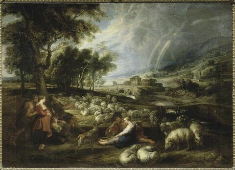 Paysage à l'arc en ciel