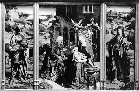 Adoration des Mages (triptyque)