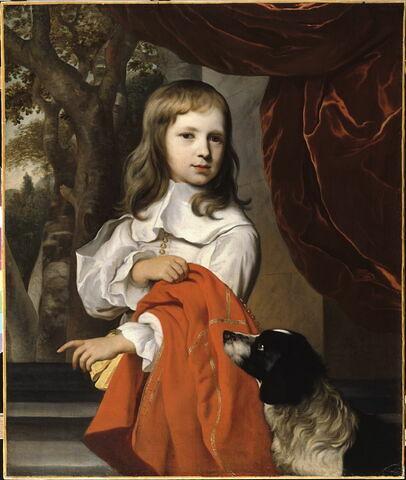 Portrait de jeune garçon au chien