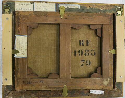 vue avec cadre ; vue d'ensemble ; dos, verso, revers, arrière © 2019 Musée du Louvre / Peintures