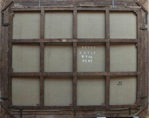 dos, verso, revers, arrière ; vue d'ensemble ; vue avec cadre © RMN-Grand Palais (musée du Louvre) / René-Gabriel Ojéda
