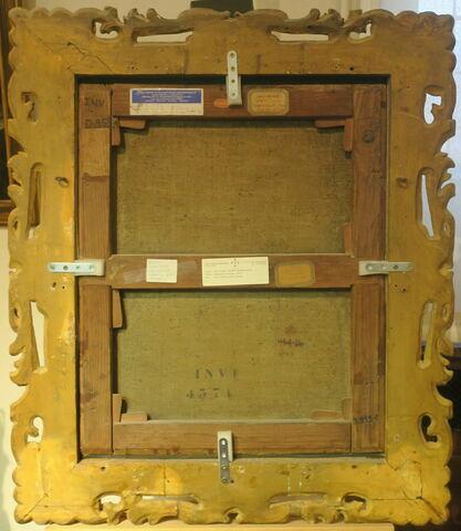 vue d'ensemble ; vue avec cadre ; dos, verso, revers, arrière © 2020 Musée du Louvre / Peintures