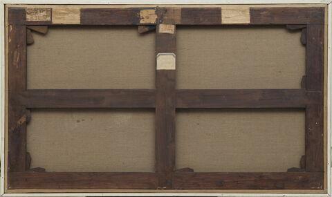 vue d'ensemble ; vue avec cadre ; dos, verso, revers, arrière © 2017 Musée du Louvre / Bertrand Legros