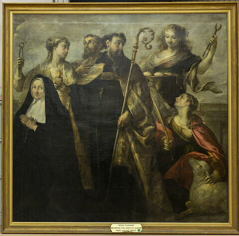 Religieuse avec saint Augustin, sainte Agnès et autres saints