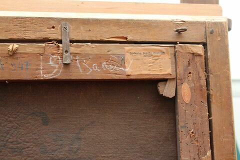 dos, verso, revers, arrière ; détail étiquette ; détail inscription © 2018 Musée du Louvre