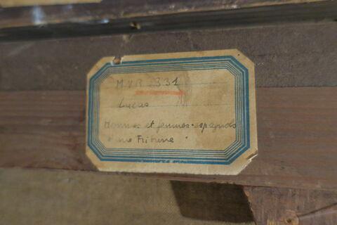 détail étiquette ; dos, verso, revers, arrière © 2019 Musée du Louvre / Peintures
