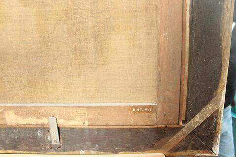 dos, verso, revers, arrière ; détail inscription © 2018 Musée du Louvre