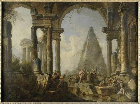 Alexandre le Grand devant le tombeau d'Achille