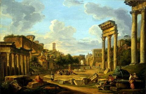 Vue du Forum à Rome