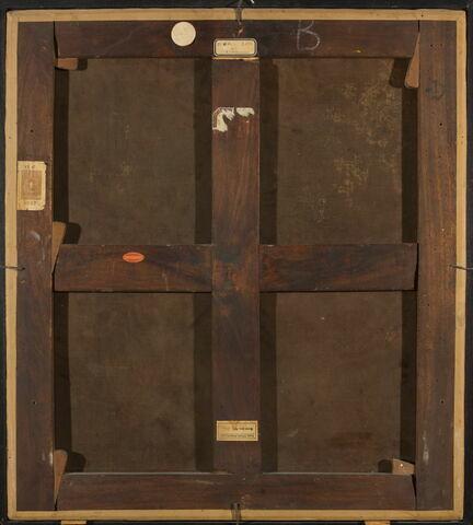 dos, verso, revers, arrière ; vue d'ensemble ; vue sans cadre © 2016 Musée du Louvre / Cathy Lauthelin