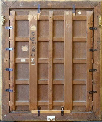 vue avec cadre ; vue d'ensemble ; dos, verso, revers, arrière © 2020 Musée du Louvre / Peintures