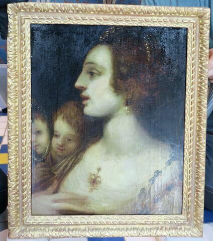 Femme et enfant au miroir