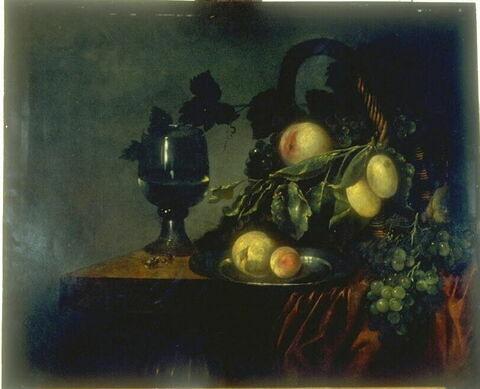 Nature morte au panier de fruits