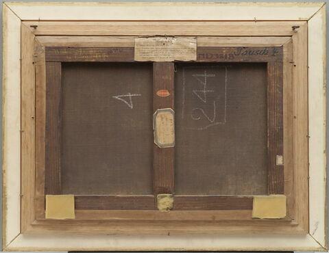 vue d'ensemble ; dos, verso, revers, arrière ; vue avec cadre © 2017 Musée du Louvre / Bertrand Legros
