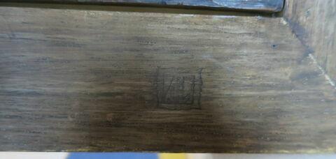 dos, verso, revers, arrière ; cadre ; détail marque au fer © 2019 Musée du Louvre / Peintures