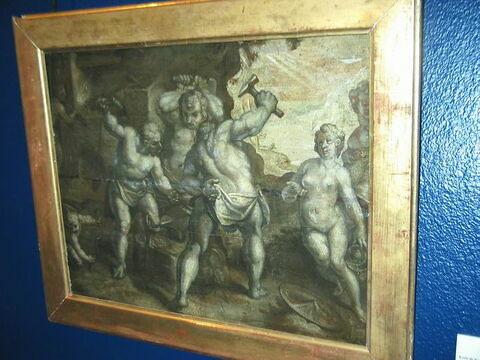 Vénus dans la forge de Vulcain (grisaille)