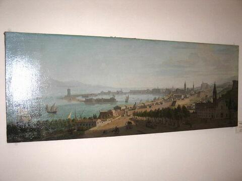 Vue du port de Messine