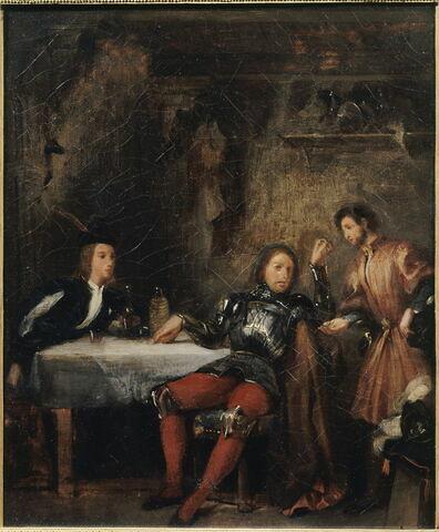 Quentin Durward et le Balafré (Walter Scott, Quentin Durward, chap.V), dit aussi Scène de théâtre