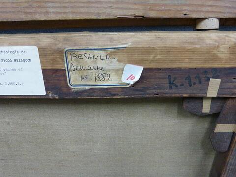 dos, verso, revers, arrière ; détail étiquette © 2016 Musée du Louvre / Dorit Barzel