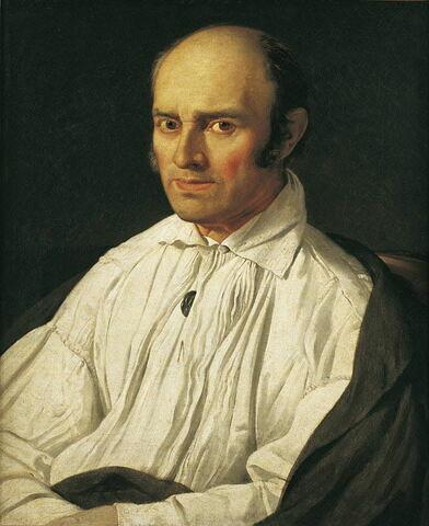 """Portrait du """"Père Desmarets"""" (1764-1832) identifié autrefois comme le peintre Frédéric Desmarais ou le graveur Sébastien Desmarets"""