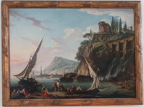 Marine avec le temple de la Sibylle de Tivoli, dit aussi Vue d'un port
