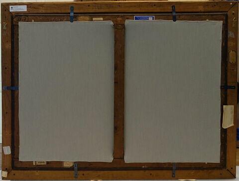 dos, verso, revers, arrière ; vue d'ensemble © 2020 Musée du Louvre / Peintures